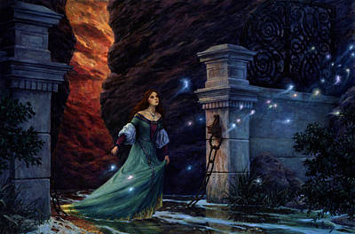 Sorceress Painting - The Twilight Gate by Richard Hescox