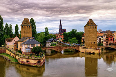 Photograph - The Twin Watchtowers Of The Ponts Couverts, Strasbourg, France by Elenarts - Elena Duvernay photo