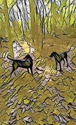 Digital Art - The Twins by Leapdaybride Visual Arts