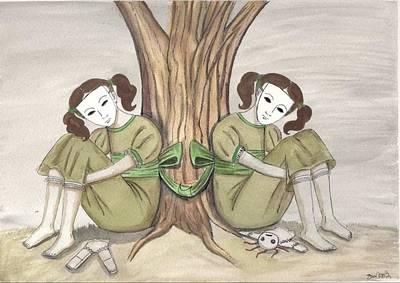 The Twins Wait Art Print