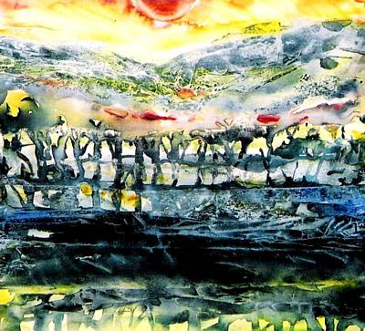 Art Print featuring the painting The Twisted Reach Of Crazy Sorrow by Trudi Doyle