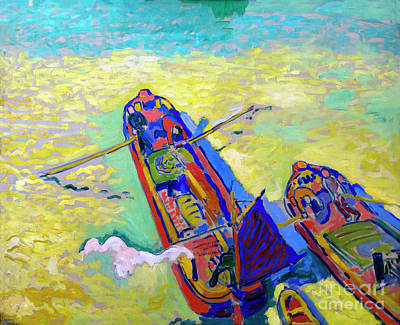 The Two Barges, Les Deux Peniches, By Andre Derain, 1906, Centre Art Print by Peter Barritt