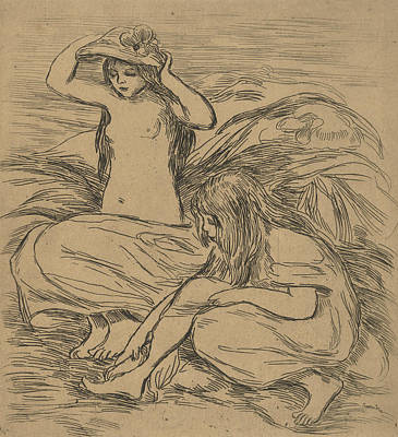 Relief - The Two Bathers by Auguste Renoir