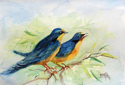 Painting - The Two Birds... by Faruk Koksal