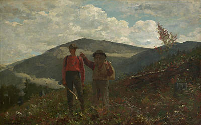 Two Guides Painting - The Two Guides Winslow Homer by MotionAge Designs