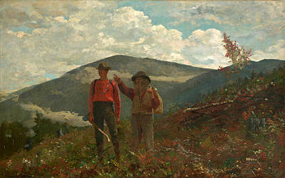 Two Guides Painting - The Two Guides by Winslow Homer