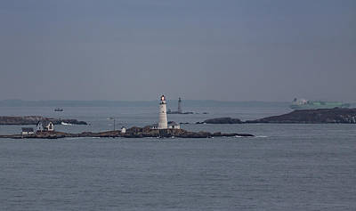 Photograph - The Two Harbor Lighthouses by Brian MacLean