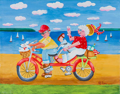 Two Bicycles Painting - The Two Of Us by Pat Olson