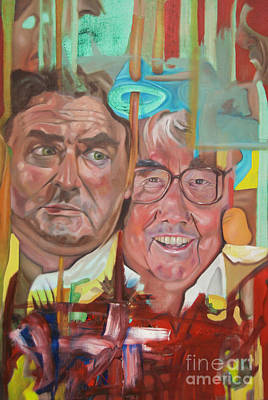 Ronnie Barker Painting - The Two Ronnies by James Lavott