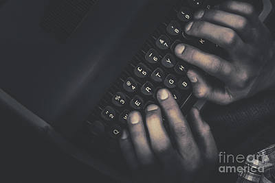 Nonfiction Photograph - The Typist. The Key Strokes. The Pressing Details by Jorgo Photography - Wall Art Gallery