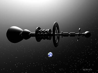 The United Earth Federation Starship Carl Sagan 1 Art Print by Walter Neal