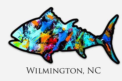 Wall Art - Painting - The Ugly Fish Nc by Barry Knauff