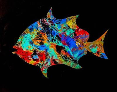 Wall Art - Painting - The Ugly Spadefish by Barry Knauff