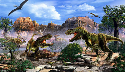 Dinosaur Mixed Media - The Ultimate Predator by Kurt Miller
