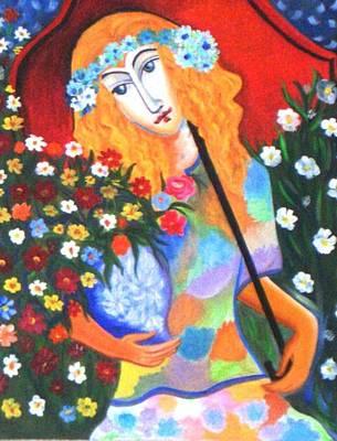 The Umbrella Girl Art Print by Xafira Mendonsa