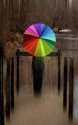 Photograph - The Umbrella by Lilia D