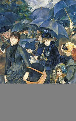 Rain Hat Painting - The Umbrellas by Pierre Auguste Renoir