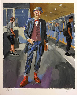 London Tube Painting - The Underground by H James Hoff