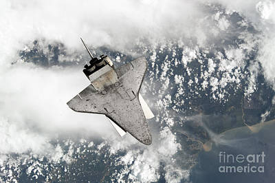 Photograph - The Underside Of Space Shuttle by Stocktrek Images