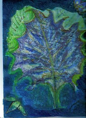 The Underside Of The Autumn Leaf Art Print by Anne-Elizabeth Whiteway