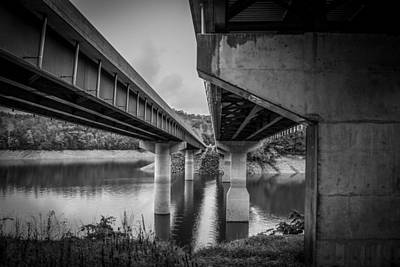 Photograph - The Underside Of Two Bridges by Kelly Hazel