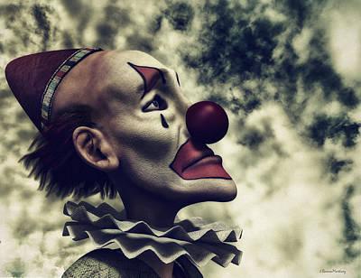 Melancholia Wall Art - Digital Art - The Understanding Clown by Ramon Martinez
