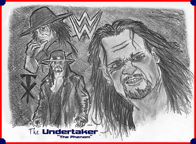 The Undertaker Art Print by Chris  DelVecchio