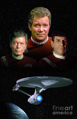 Enterprise Digital Art - The Undiscovered Country by Paul Tagliamonte