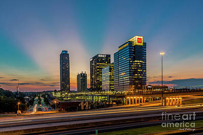 Photograph - The Unexpected Sunset Midtown Atlanta Cityscape Skyline Art by Reid Callaway