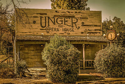 Photograph - The Unger Opera House 1888 by Gene Parks