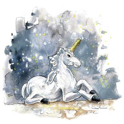The Unicorn In Ripon Art Print by Miki De Goodaboom