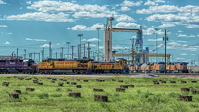 Photograph - The Union Pacific Bailey Yard by Susan Rissi Tregoning