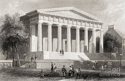 Landmarks Drawing - The United States Bank Philadelphia, Usa by American School