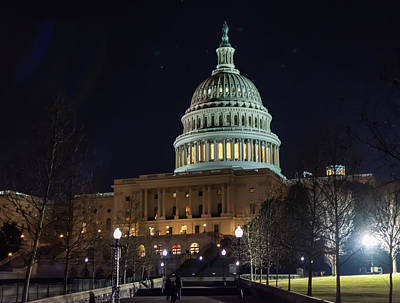 Photograph - The United States Capitol by Bill Howard