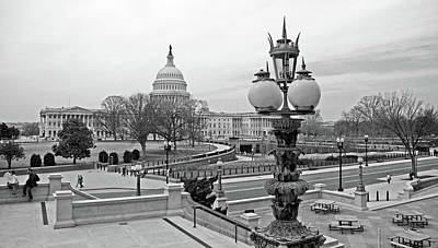 Photograph - The United States Capitol From The Library Of Congress - 2 by Cora Wandel
