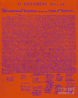 The United States Declaration Of Independence 20130215m108 Art Print