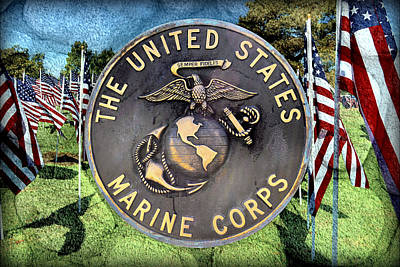Mixed Media - The United States Marine Corps by Glenn McCarthy Art and Photography