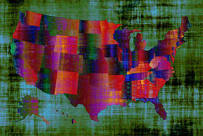 The United States Of America Art Print by Ally White