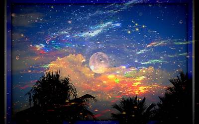 Universe Photograph - The Universal Moon by Sherri  Of Palm Springs