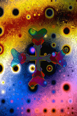 Digital Art - The Universe Is Cruciform by Chuck Mountain