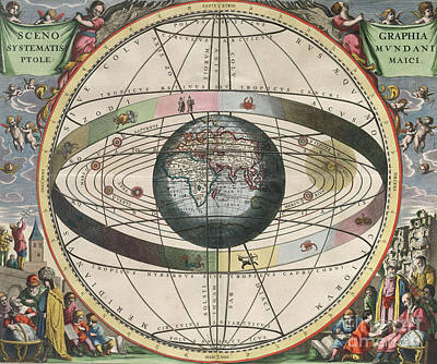 The Universe Of Ptolemy Harmonia Art Print by Science Source