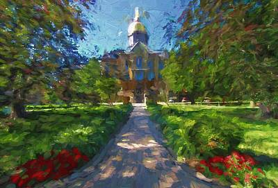 Universities Mixed Media - The University Of Notre Dame by Dan Sproul