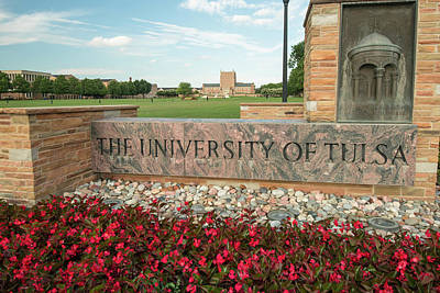 Oklahoma University Wall Art - Photograph - The University Of Tulsa Oklahoma by Gregory Ballos