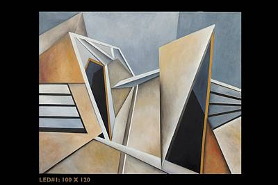 Futurism Architecture Wall Art - Painting - The Unknown Structure by Silvia  Goytia