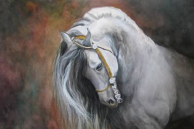 Horse Portraits Painting - The Unreigned King by Nonie Wideman