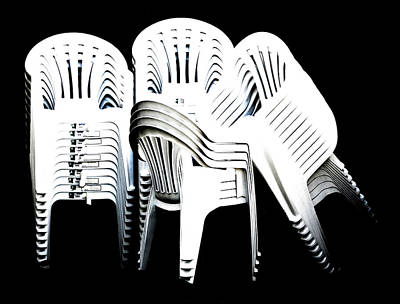 Digital Art - The Unused Chairs by Steve Taylor