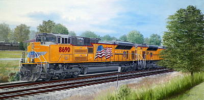 Painting - The Up 8690 by RB McGrath