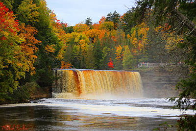 Photograph - The Upper Tahquamenon Falls by Michael Rucker
