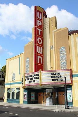 Photograph - The Uptown Theater In Napa California Wine Country 7d8935 by San Francisco
