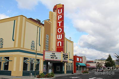 Photograph - The Uptown Theater In Napa California Wine Country 7d8960 by San Francisco